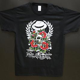 Impresión de impresión de camiseta negra por impresora textil digital A1 WER-EP6090T