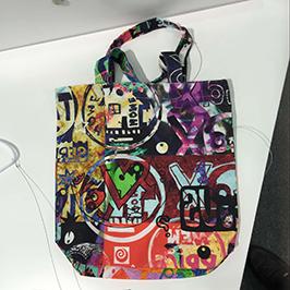 Muestra de impresión de bolsas non tecidas por impresora textil dixital A1 WER-EP6090T
