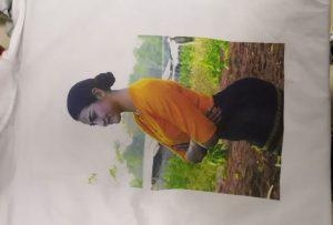 Mostra de impresión de camisetas para o cliente de Birmania da impresora WER-EP6090T
