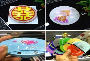 Impresión de mostras de plástico de impresora UV de tamaño 6090UV